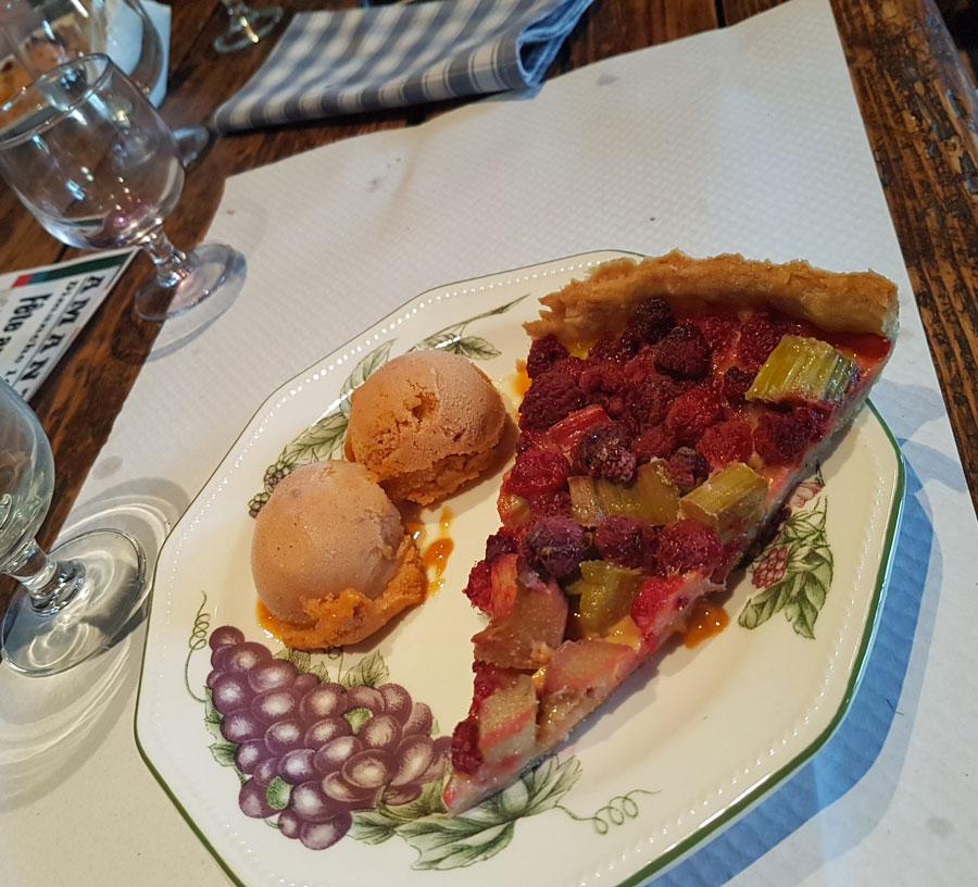 Ferme auberge des Collines - Tarte aux fruits