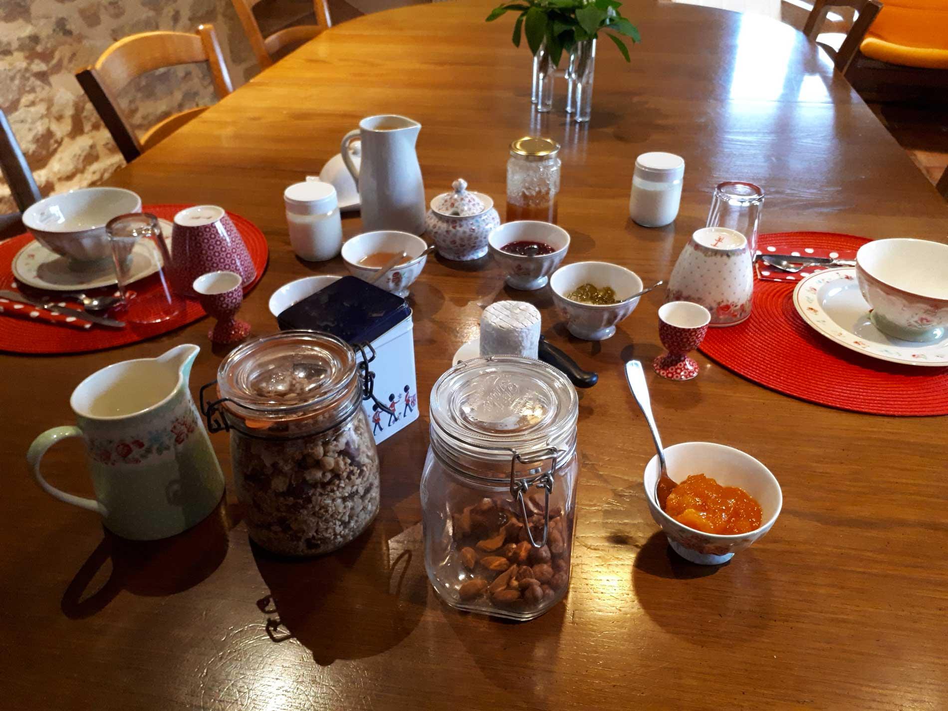 Ferme auberge des Collines - Petit-déjeuner
